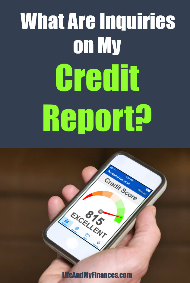 inquiries on your credit report
