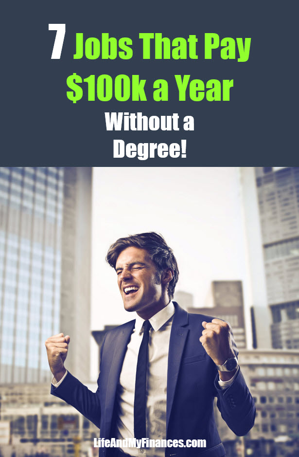 jobs that pay 100k a year without a degree